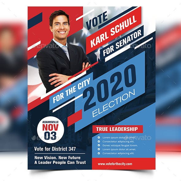 Political Flyer Election Template