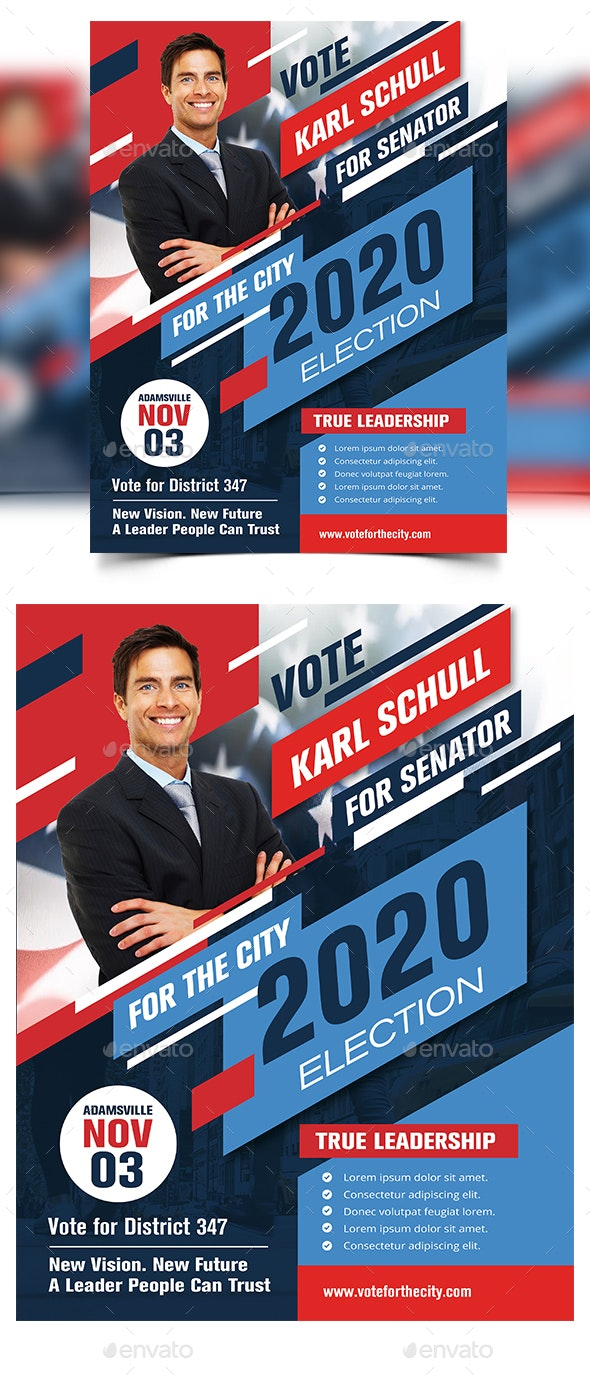 Political Flyer Election Template - Corporate Flyers