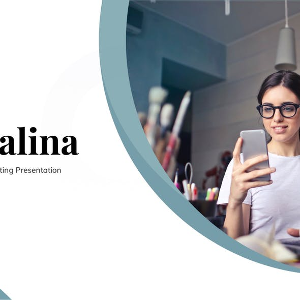 Socialina - Social Media Marketing Google Slides Template