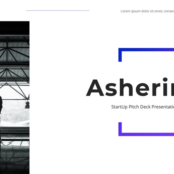 Asherine - StartUp Pitch Deck Keynote Template