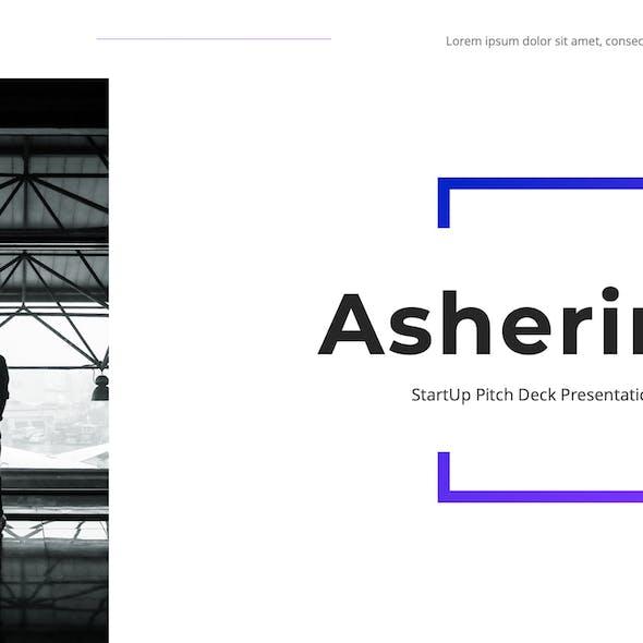 Asherine - StartUp Pitch Deck Google Slides Template