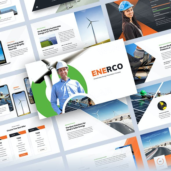 Enerco - Wind & Solar Energy PowerPoint Template