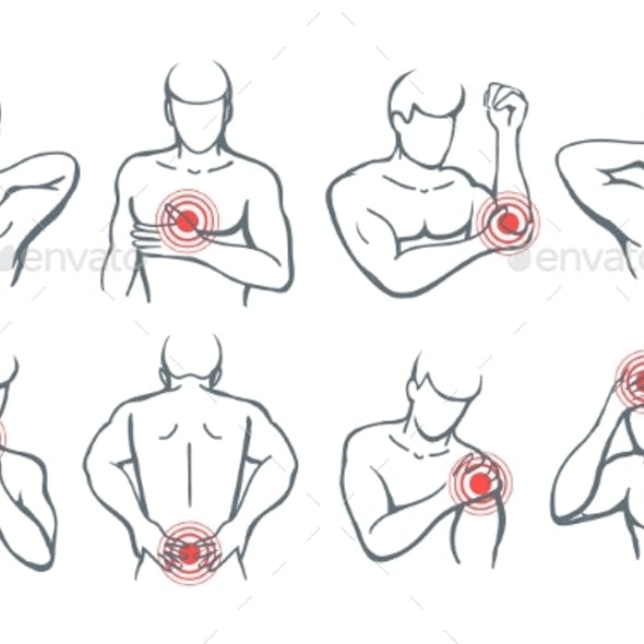 Vector Body Painful Parts