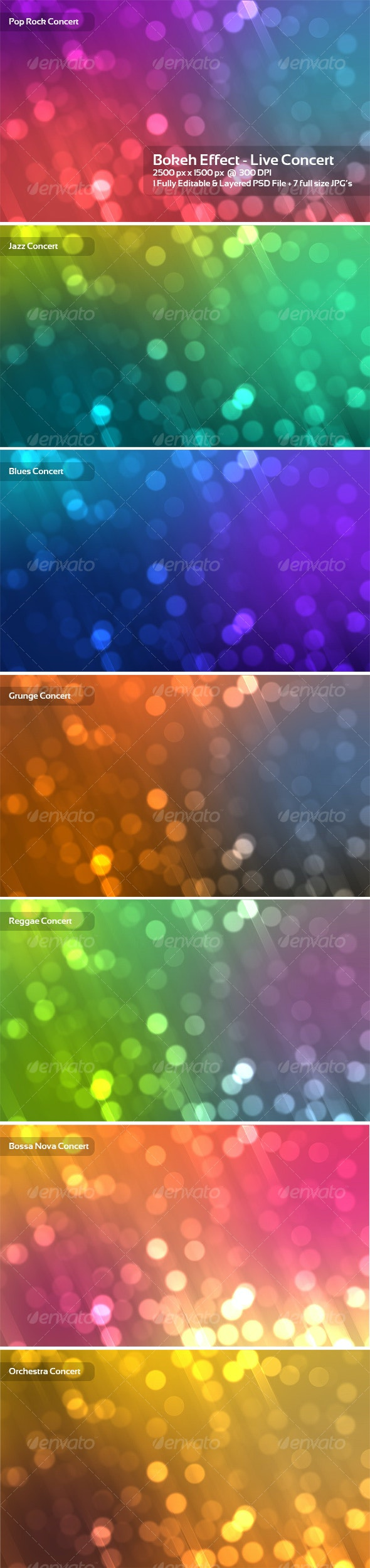 Bokeh Effect - Live Concert - Backgrounds Graphics