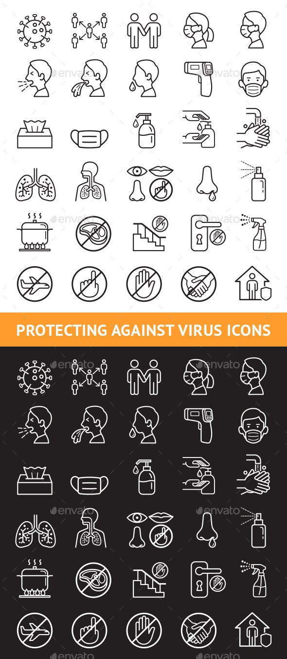 Protecting Against Virus Icons - Icons