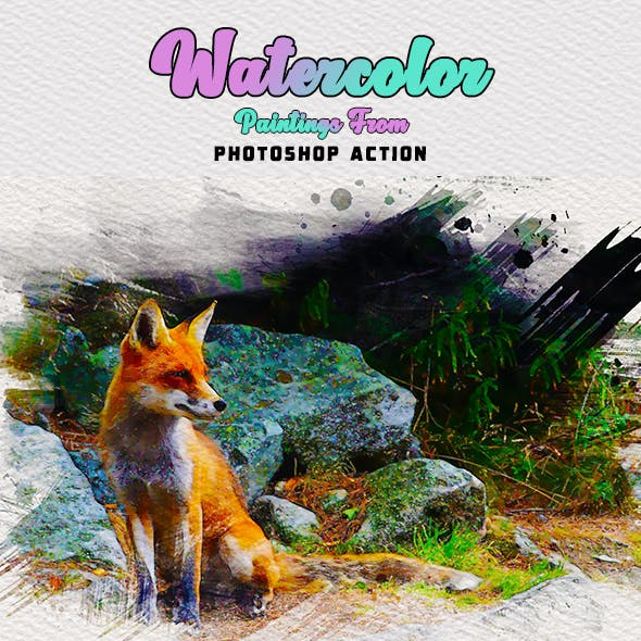 Watercolor Paintings From Photoshop Actions