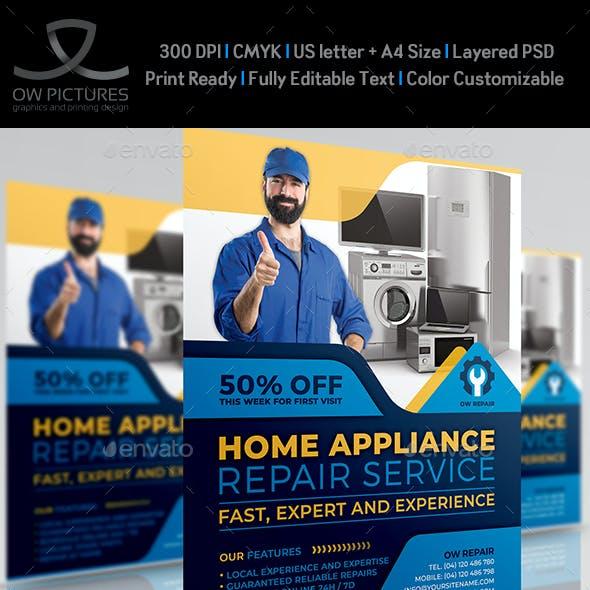 Home Appliance Repair Service Flyer Template