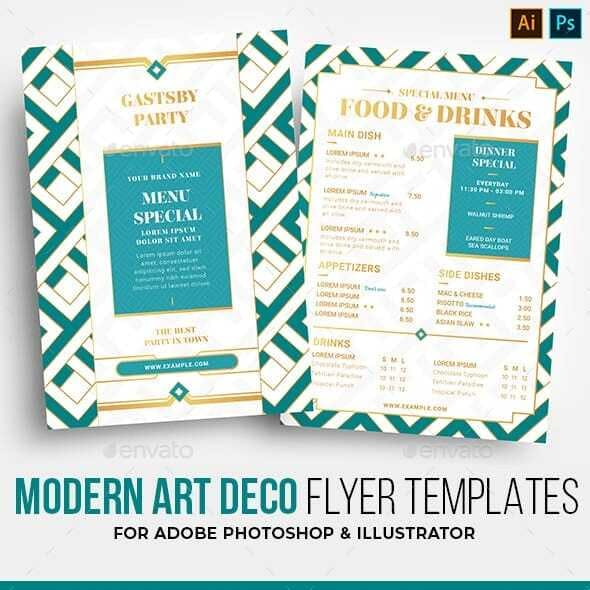 Modern Art Deco Flyer Template