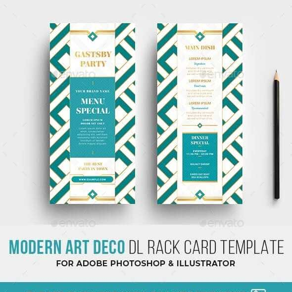 Art Deco DL Card Template