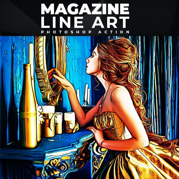 Magazine Line Art - Photoshop Action