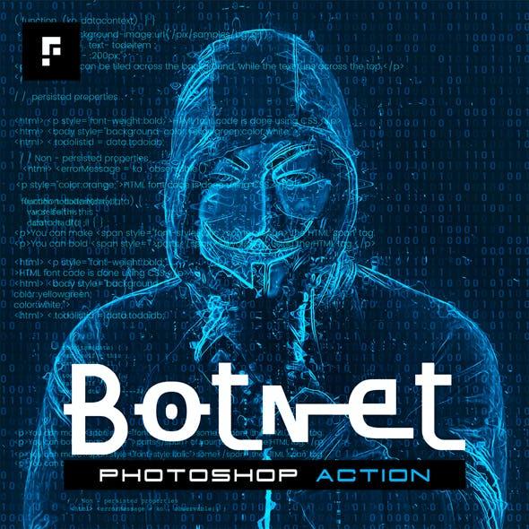 Botnet Photoshop Action