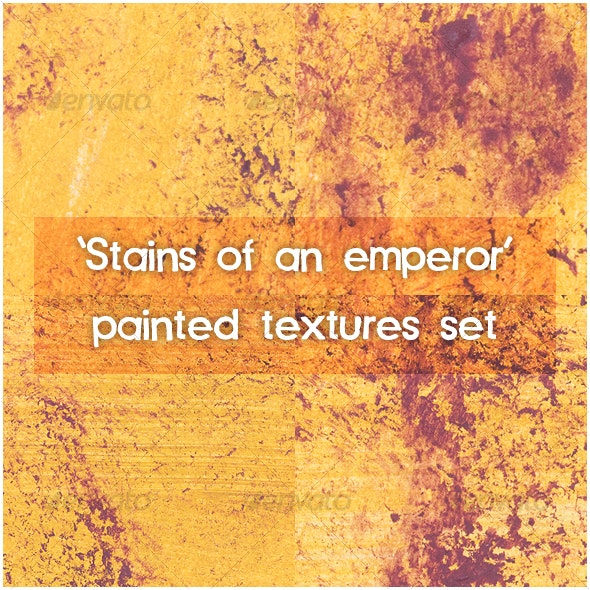 """""""Stains of an Emperor"""" paint texture set - Art Textures"""