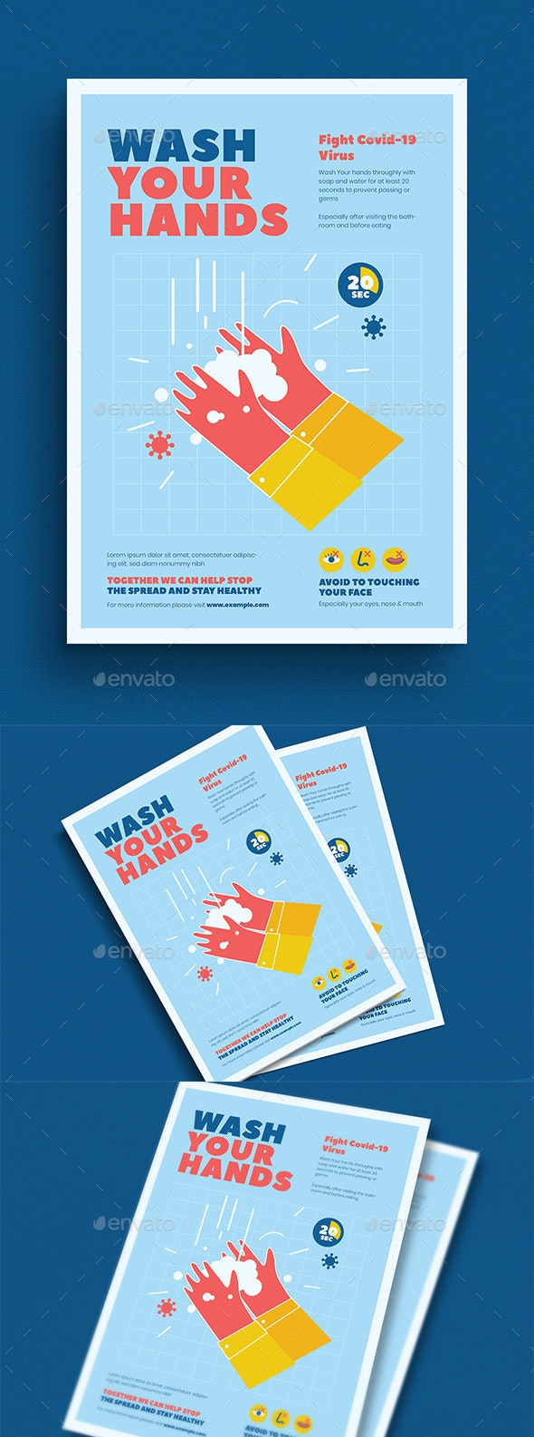Washing Hand Campaign Poster - Flyers Print Templates