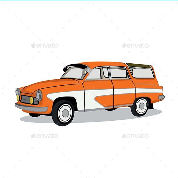Old Car Vector Design
