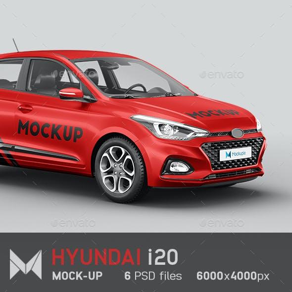 Hyundai i20 Car Mockup