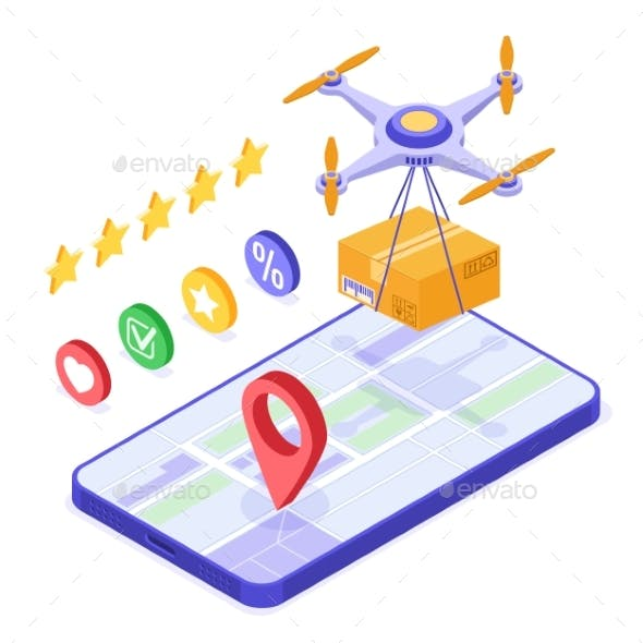 Drone Delivery Online Order Package