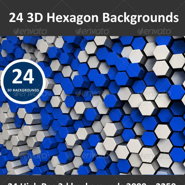 Hexagon 3D Backgrounds