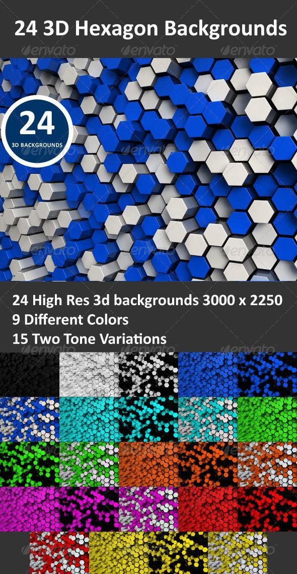 Hexagon 3D Backgrounds - 3D Backgrounds