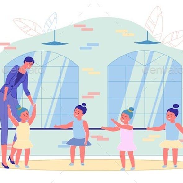Teacher Little Children Training at Ballet Studio