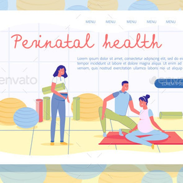 Perinatal Health Landing Page with Copy Space
