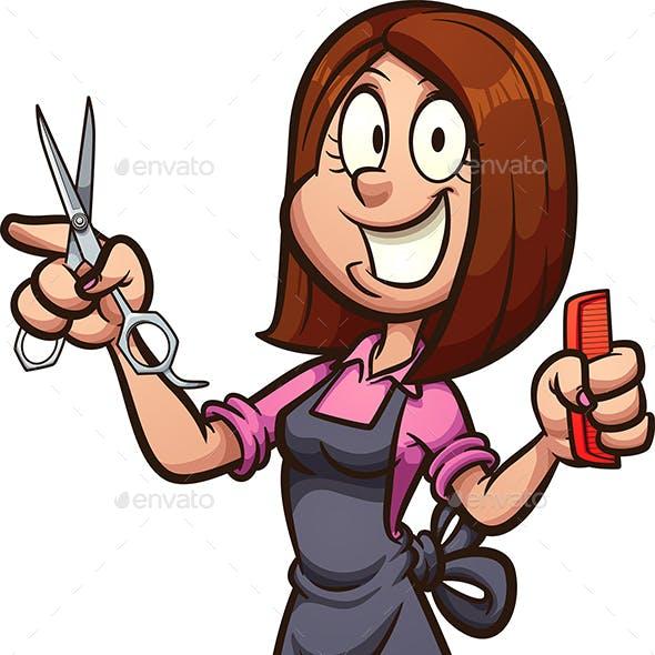 Cartoon Hairdresser