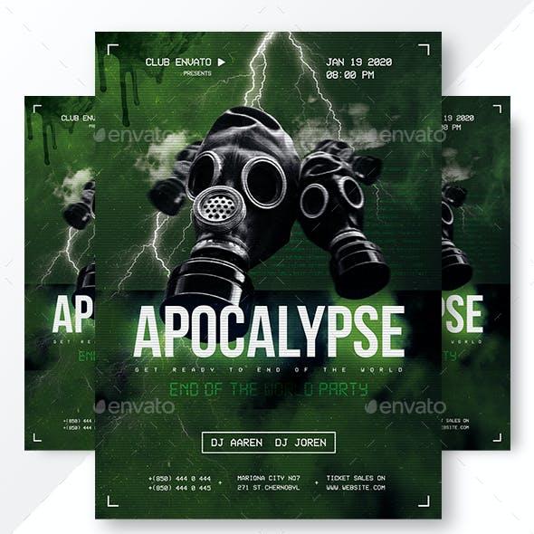 Apocalypse Party Flyer & Instagram Banners