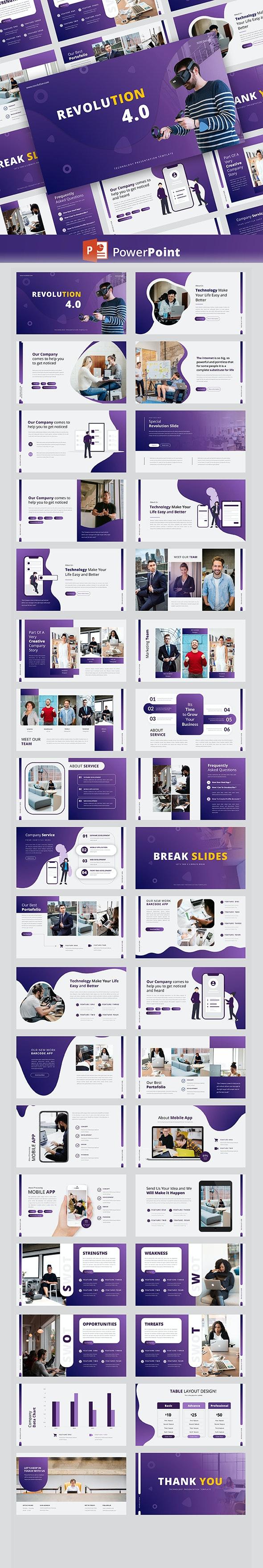 Revolution – Creative Business PowerPoint Template - Creative PowerPoint Templates