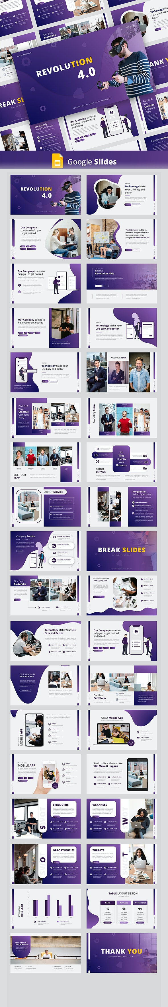 Revolution – Creative Business Google Slides Templat - Google Slides Presentation Templates