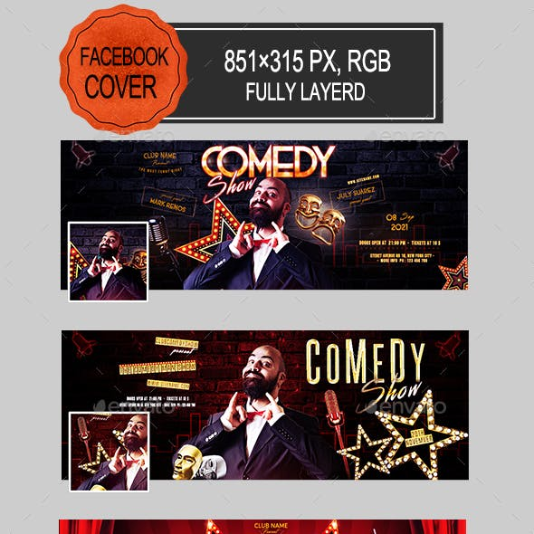 Comedy Show Facebook Covers