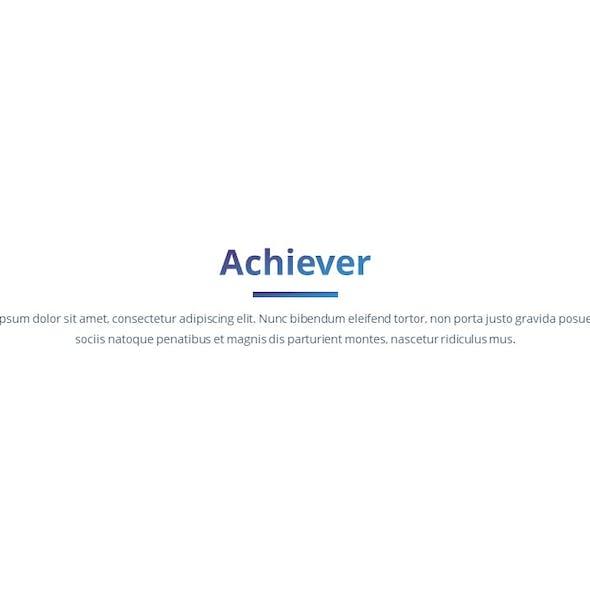 Achiever - Multipurpose Keynote Template
