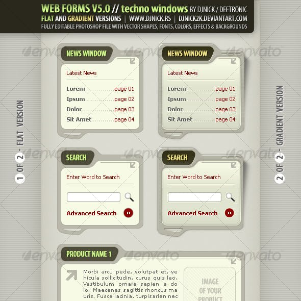 Web Forms and Elements in Olive / Military style