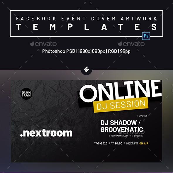 Online DJ Session - Facebook Event Cover Templates