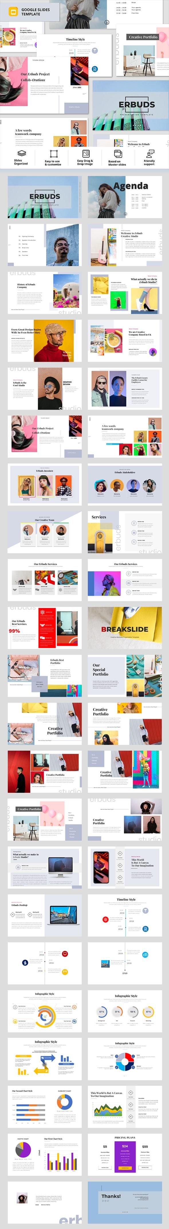 Erbuds - Creative Business Google Slides Template - Google Slides Presentation Templates