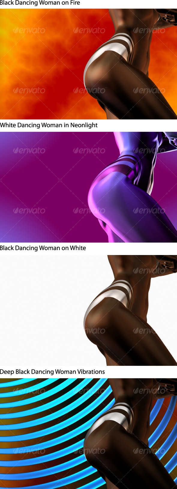 Black magic woman on fire... - Backgrounds Graphics