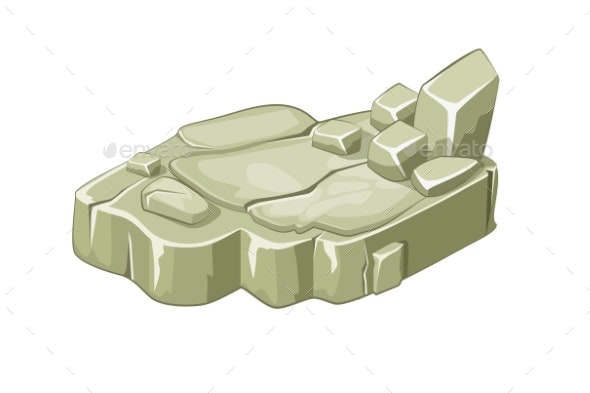 Isometric Stone Island Platforms for the Game. - Objects Vectors