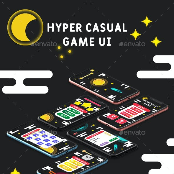 Interstellar - Hyper Casual Game UI GUI Kit