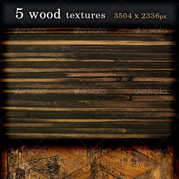 5 Wood Textures high resolution