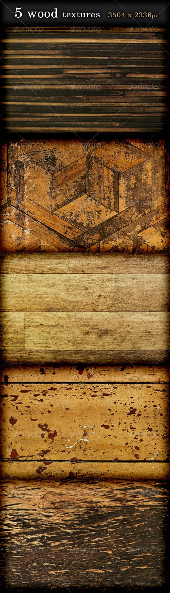 5 Wood Textures high resolution - Wood Textures
