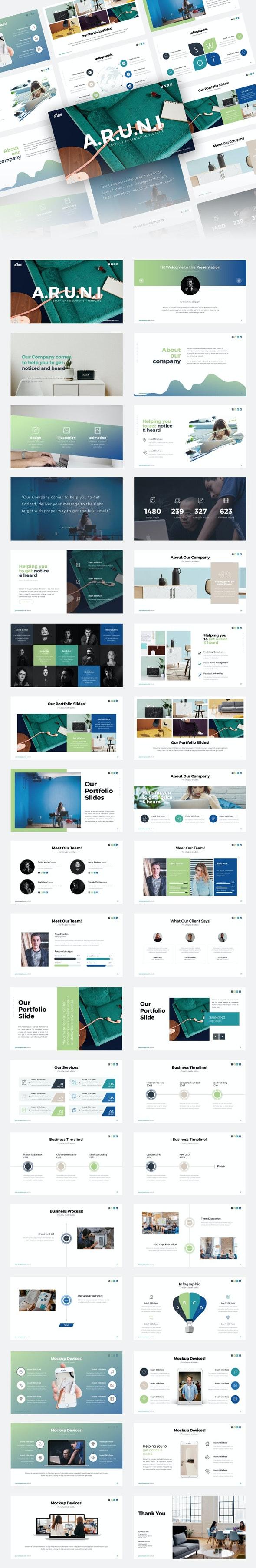 Aruni Start-up Business Presentation Template - Creative PowerPoint Templates