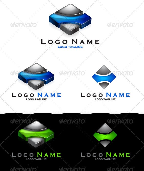 Tile Logo - 3d Abstract