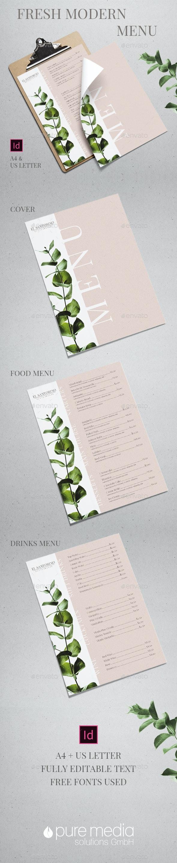 Fresh Modern Menu - Food Menus Print Templates