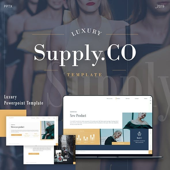 Supply.Co Luxury Marketplace Presentation Powerpoint Template Fully Animated