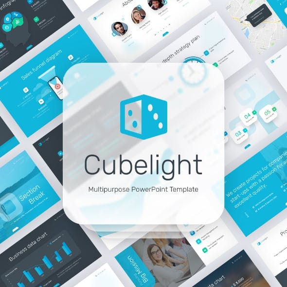 Cubelight Multipurpose PowerPoint Presentation Template