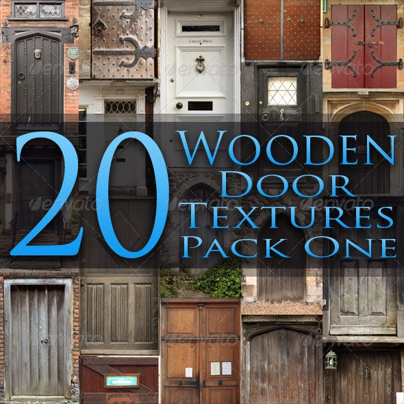 20 Wooden Door Textures - Pack One - Miscellaneous Textures
