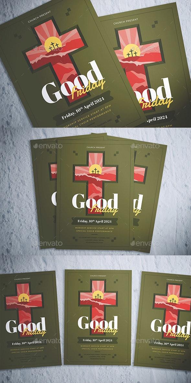 Good Friday Celebration Flyer - Flyers Print Templates