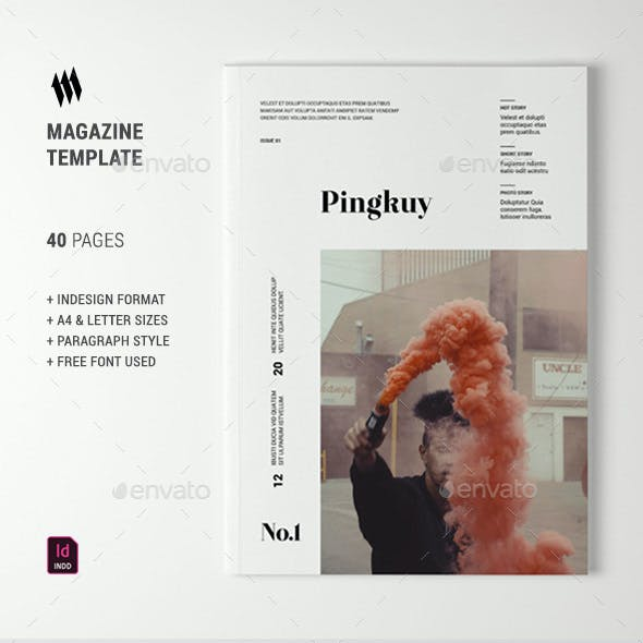 Pingkuy Magazine Template