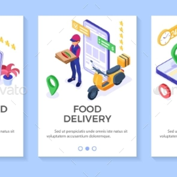 Online Food Pizza Order Delivery Service Banners