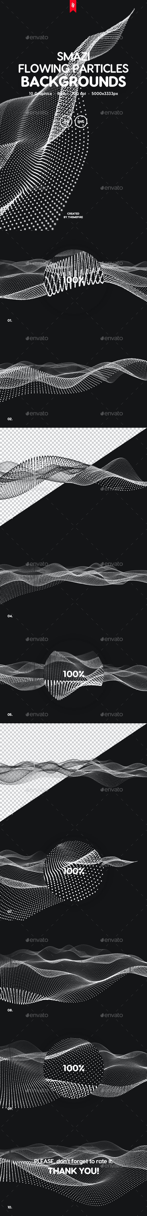 Smazi - Flowing Particles Futuristic and Technology Background Set - Tech / Futuristic Backgrounds