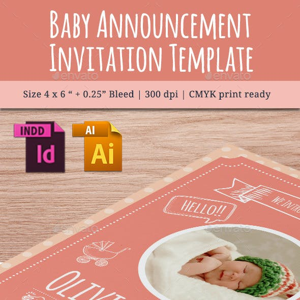 Baby Announcement Template - Vol.8