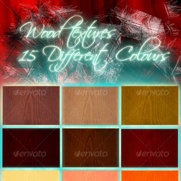 Hi-Res Wood Texture Pack-15 Different Colours